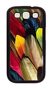 Samsung S3 Case,VUTTOO Cover With Photo: Parrot Feather Colorful For Samsung Galaxy S3 I9300 - PC Black Hard Case