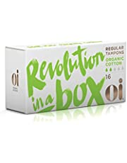 Oi Certified Organic Cotton Tampons | Box of 16 Regular Tampons | Non-Applicator