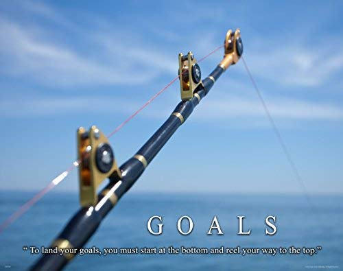 Salt Water Tuna Big Game Fishing Motivational Poster Art Print 11×14 Reels Poles Rods Wall Decor Pictures