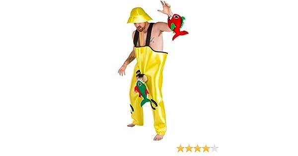 Disfraz de Pescador con Piraña picando para hombres: Amazon.es ...