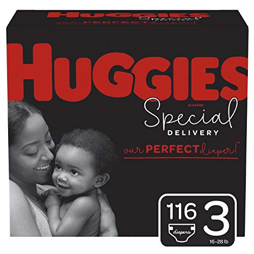 Huggies Special Delivery Hypoallergenic Baby Diapers, Size 3, 116 Ct, One Month Supply