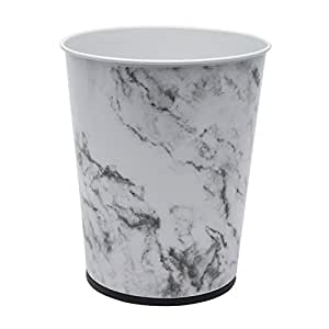 Stainless Steel Trash Can 5-Litre By Bath Bliss - Perfect for Bathroom, Bedroom, Office and More