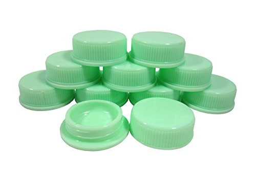 Tester Box (Empty Green Jar Container for Cream Lip Balm Lotion Cosmetic Tester Makeup Travel Pill Box 2.5 g (Pack of 10 Pcs))