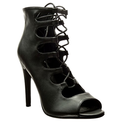 ... Heel 11 cm Schwarz. B01KPAI6N2. Angkorly Damen Schuhe Pumpe - Stiletto  - Sexy - Multi-Zaum - Spitze Stiletto High