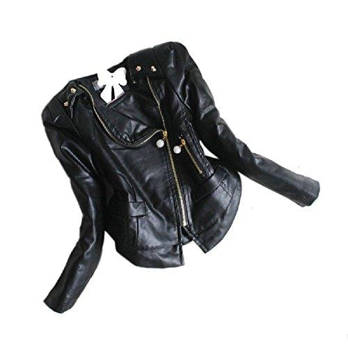 Little Rivets Ruffle Chiffon Leather
