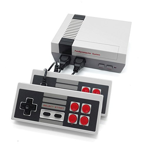 Mayluck™ Mini Video Game Consoles Classic Game System Family Computer Double Controller With Built in 620 Games