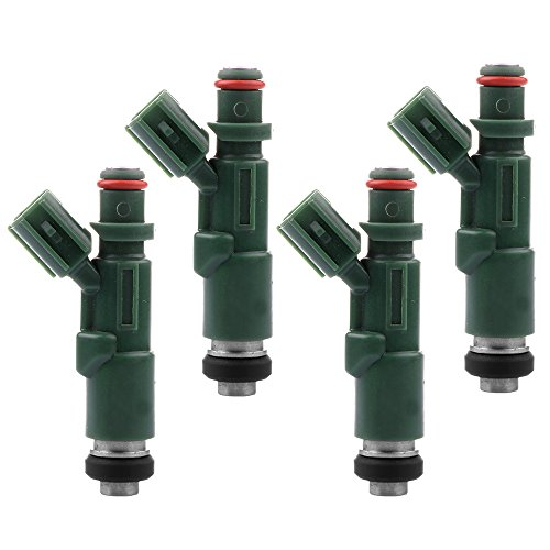(Fuel Injectors ECCPP 4pcs High Performance Green 12 Hole Fuel Injector Kits 23250-21020 fit for 2001-2009 Toyota Prius,2000-2005 Toyota Echo,2004-2006 Scion XB XA)