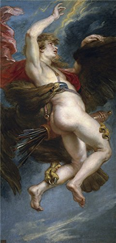 The Perfect Effect Canvas Of Oil Painting 'Rubens Peter Paul The Rape Of Ganymede 1636 38 ' ,size: 18 X 38 Inch / 46 X 95 Cm ,this Vivid Art Decorative Prints On Canvas Is Fit For Bathroom Decoration And Home Gallery Art And (Flash Dancer Costume Ideas)