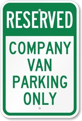 Parking Only Sign Aluminum Top - 4