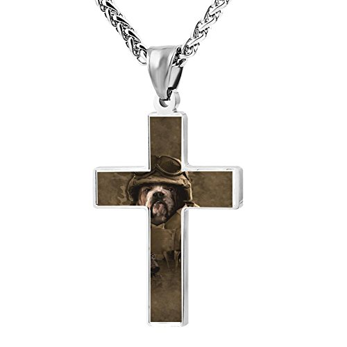 Combat Baseball Wood Bat (Simple Small Zinc Alloy Religious Cross Necklace For Men Women,Print Combat Sam)