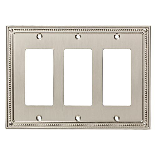 Franklin Brass W35067-SN-C Classic Beaded Triple Decorator Wall Plate/Switch Plate/Cover, Satin ()