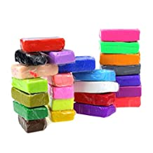 Changeshopping 24pcs Malleable Fimo Polymer Modelling Soft Clay Blocks Plasticine DIY