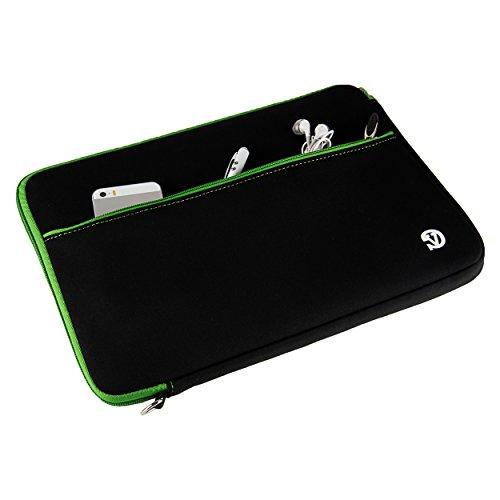 Green Trim VanGoddy Neoprene Sleeve for Asus 12.5 to 13.3-inch Laptops & Ultrabooks