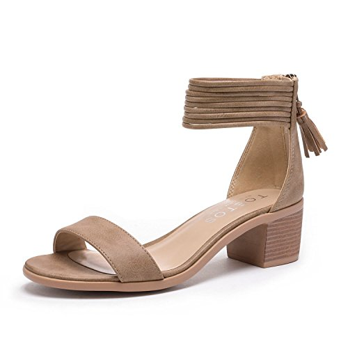 Image of TOETOS Women's Ivy Fashion Block Heel Sandals
