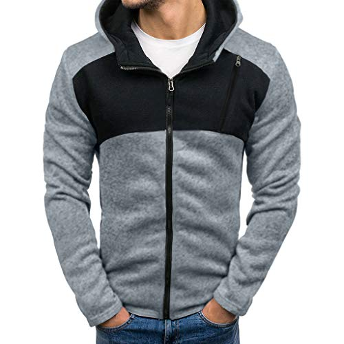KIKOY Comfort Sweatshirt Men's Full-Zip Hooded Fleece Long Sleeve Cotton Tops -