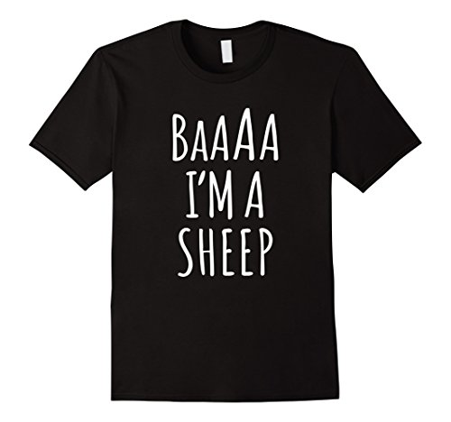 Mens I'm a Sheep Halloween Costume T Shirt for Kids Adults XL (Sheep Costume For Men)