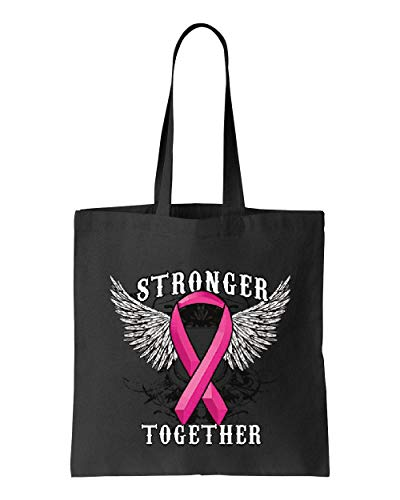 Stronger Together Breast Cancer Awareness Tote Handbags Bags for Work School Grocery Travel (GSB)
