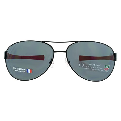 Tag Heuer Sunglasses LRS 0256-110 Black Red / Grey Outdoor - Sunglasses Heuer For Men Tag