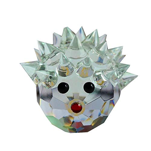 Craft Decoration Indoor Crystal Glass Block Hedgehog Figurine Ornaments Feng Shui Nativity Christmas Home Decor Animal Figurines Angels Craft Gift