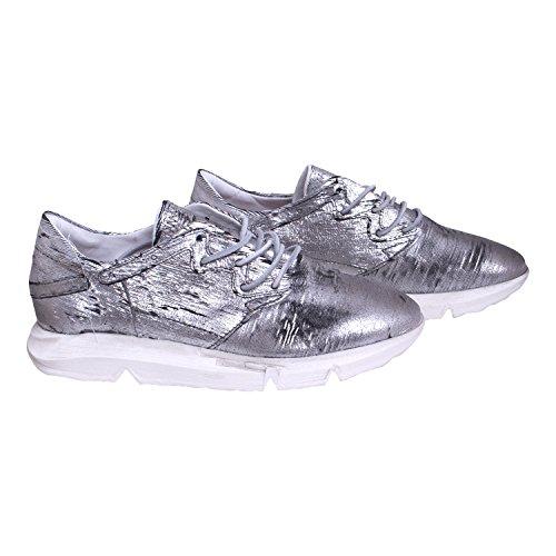 AS.98 - Zapatillas de Piel para mujer Plateado Platin