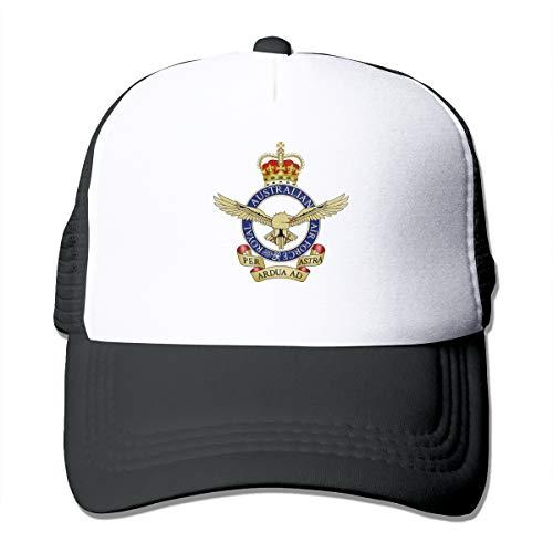 Royal Australian Air Force Classic Trucker Hat Adjustable Baseball Cap for Men and Women Black ()