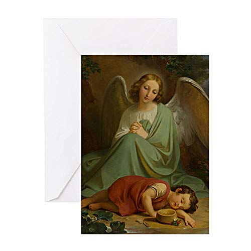 CafePress Mechior Paul Van Deschwanden Guardian Angel 18 Greeting Card, Note Card, Birthday Card, Blank Inside Matte