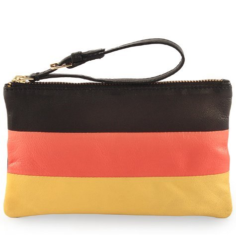 18cmx11cmx0 wallet Leather small Genuine clutch 5cm Purse zip Logo top Pouch German Assots PAvqxI5x