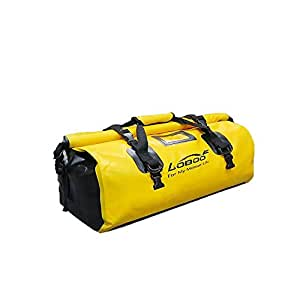 Loboo Waterproof Bag Expedition Dry Duffel Bag Motorcycle Luggage For Travel,Sports, Cycling,Hiking,Camping (90l, yellow)