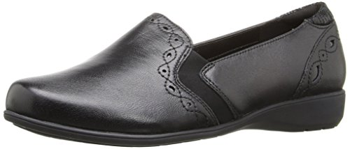 Aravon Women's Adalyn-AR Flat,Black,8 D US