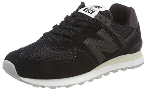 New Balance Herren Ml574E Sneaker, Schwarz (Black/Black Eta)