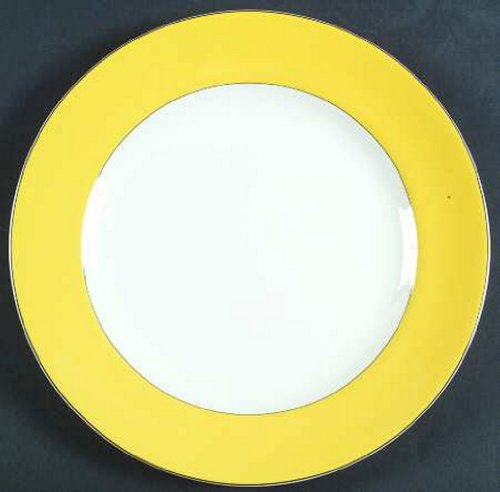 Kate Spade Rutherford Circle Yellow Dinner Plate
