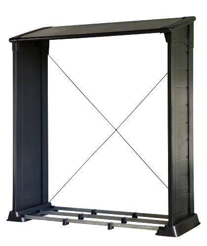 Keter 17199186 Kaminholz-Unterstand Firewood Shelter, 1,2m³, Kunststoff, schwarz