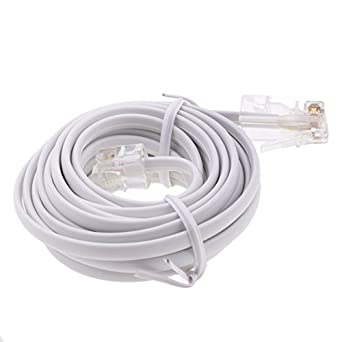 Fenteer RJ11 ADSL To Ethernet RJ45 Modem Cable 8P 4C 6P 4C ASDL Patch Wire 4