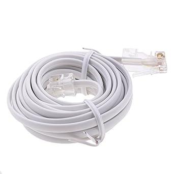 monkeyjack 10 feet telephone rj11 6p4c to rj45 8p4c network to telephone connector. Black Bedroom Furniture Sets. Home Design Ideas