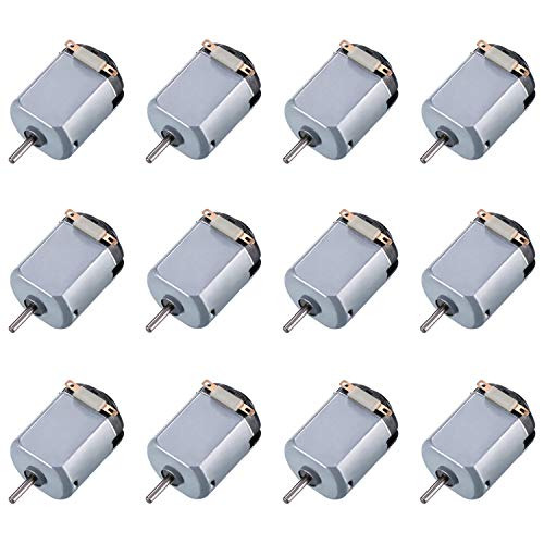 Topoox 12 Pack DC Motor 1.5-3V 15000RPM Mini Electric Hobby Motor for DIY Toys Science Projects