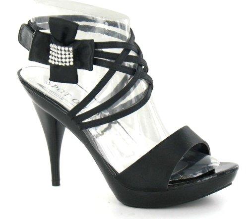 pour femme On Spot noir Noir Sandales 6AfEwExa