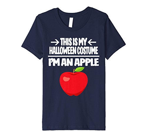 Kids Red Apple T-shirt Easy Group Halloween Costume