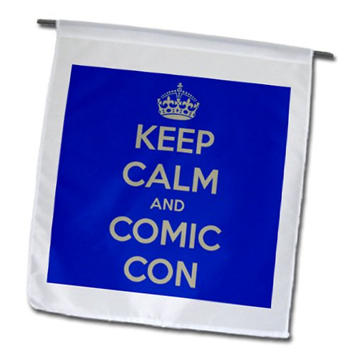 a337a5aee fl_173363_1 EvaDane - Funny Quotes - Keep calm and comic con. Blue. Comic  Book Lovers. - Flags - 12 x 18 inch Garden Flag - Buy Online in UAE.