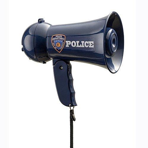 Pretend Play Police Officer's Megaphone with Siren Sound For Kids By Dress Up America
