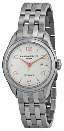baume-and-mercier-clifton-silver-dial-stainless-steel-ladies-watch-10150