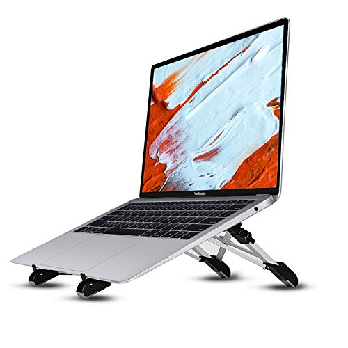 Urbo Jacht Portable Foldable Laptop Stand with Ergonomic Height Adjustable Feature for Laptops, Notebooks & Tablets in Offices, Homes, Co-Working Spaces and Coffee Shops