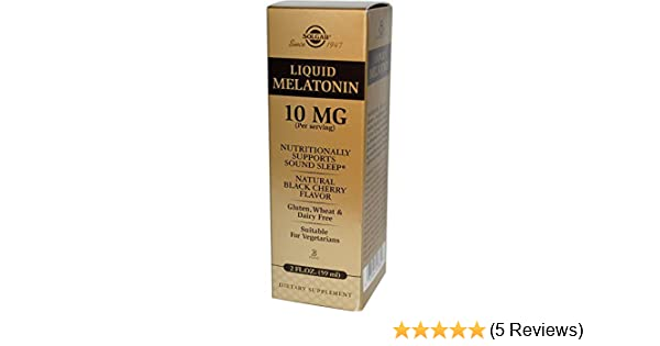 Amazon.com: SOLGAR Liquid Melatonin 10 Mg Natural Black Cherry Flavor, 2 FZ: Health & Personal Care