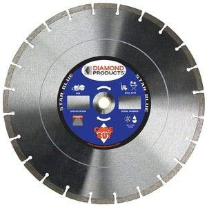 Diamond Products Core Cut 85261 Star Segmented High Speed Diamond Blade, 14-Inch x 0.125-Inch, Blue