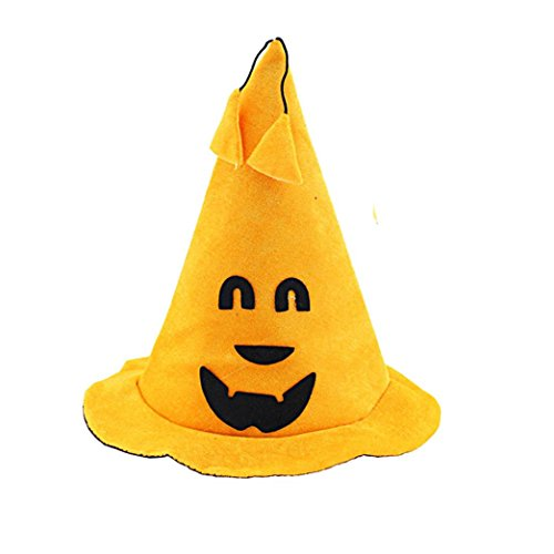 [Tenworld Smile Eyes Emotion Witch Cap Costume Party Props Halloween Pumpkin Hat] (Crazy Christmas Hats)