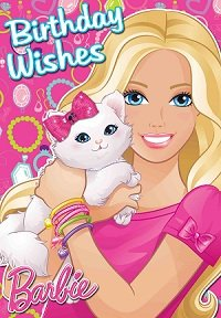 barbie birthday card
