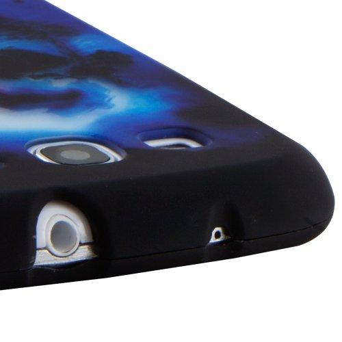 Boho Tronics TM Skull Skeleton Case Premium Hard Snap On Cover - Compatible With Samsung Galaxy S3 III i9300 - Black Blue