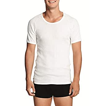 Holeproof Aircel Round Neck Thermal Short Sleeve Tee MYQ31A White-XXLarge