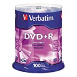 VERBATIM 95098 4.7GB DVD (100-ct Spindle)