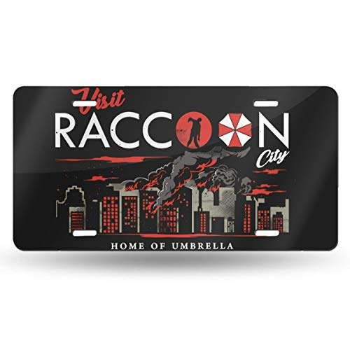 MELISSI Oui-A Metal Funny Resident Evil Operation Raccoon City License Plate Car Accessories 6