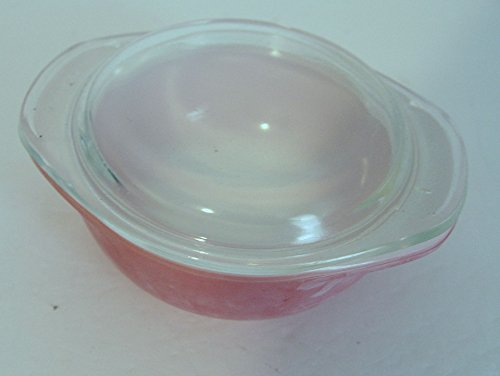 Vintage Faded Flamingo Pink Pyrex Bowl 8 oz 080 with Lid